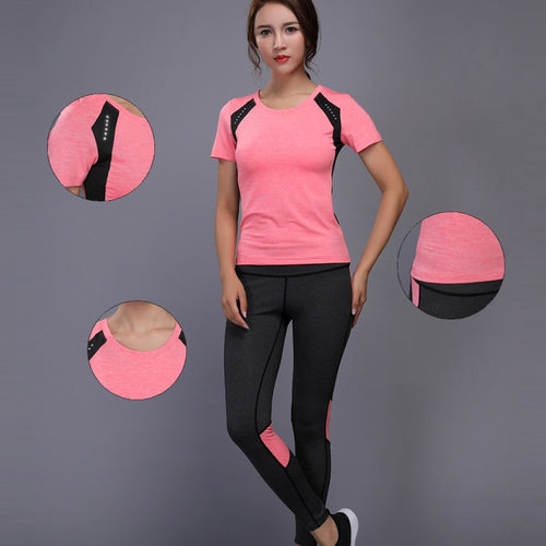 Women Tennis Clothes Yoga Set Badminton Clothing Fitness Running Shirt+Pants Quick Dry Gym Workout Jogging Sport Suit