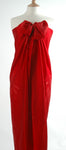 stunning red silk Hand Made batik sarong and wrap by Your Sarong