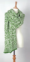 Lime on White Java Batik Sarong