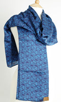 Silk True Blue Short Sarong/Scarf 180x50cm