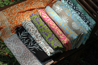 Large handmade batik sarongs