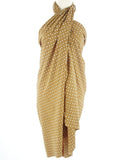 gold diamonds batik sarong