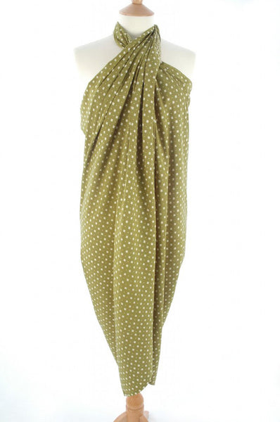 Hand Made batik sarong and wrap by Your Sarong in pale khaki diamonds