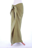 Pale Khaki Diamonds Hand Made Batik Sarong/Wrap