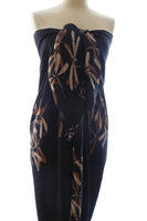 Gold on black dragonfly batik sarong and wrap