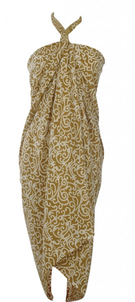 Hand Made batik sarong and wrap by Your Sarong in gold