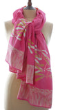 Gold on Pink Batik Dragonfly Sarong/Wrap