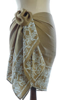 Silk Webs Short Sarong/Scarf in Buttercup