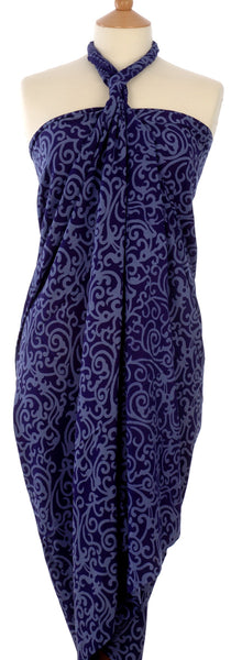 Java batik sarong and wrap in indigo blue from Your Sarong