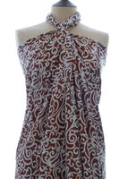 Pure silk sarong and wrap in chocolate from Your Sarong