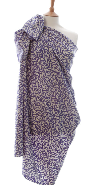 lavender pearl drop batik sarong and wrap