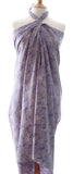 New Lavender Feathers sarong and shawl