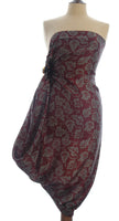 Pure silk Hand Made batik sarong and wrap by Your Sarong in burgundy