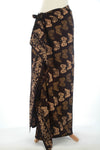 Gold on Black  Bali Butterfly Batik Sarong  178x110cm