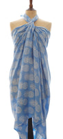 Powder blue pineapple batik sarong