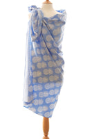 Powder blue pineapple batik sarong and wrap