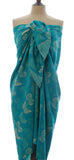Bali butterfly sarong in sea green