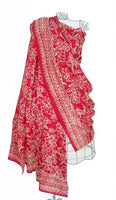 Pure silk sarong and wrap in cerise from Your Sarong