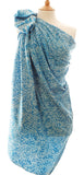 New Bali Leaf Large Sarong in Soft Sky Blue