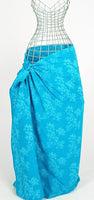 Flowers of Java in Turquoise Batik Sarong  177x120cm