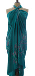 Batik Dragonfly sarong in new jade