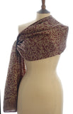Golden Chocolate Short Sarong/Scarf 180x50cm