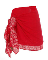 Young Child's Hand Made Batik Red Bali Leaf Bordered Sarong 85x110cm