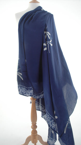 Pure silk sarong and wrap in royal blue from Your Sarong