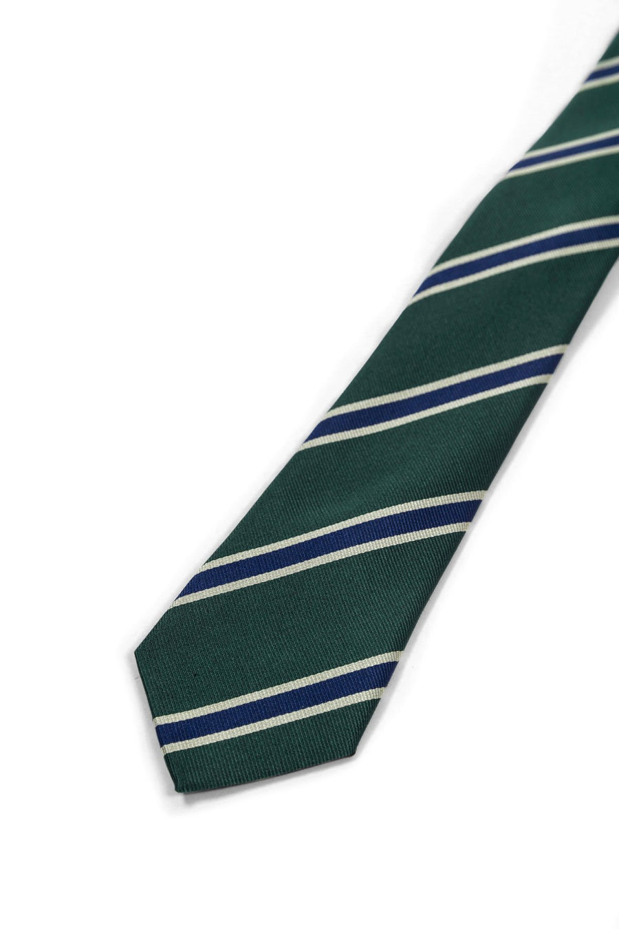 The Green Striped Preppy Silk