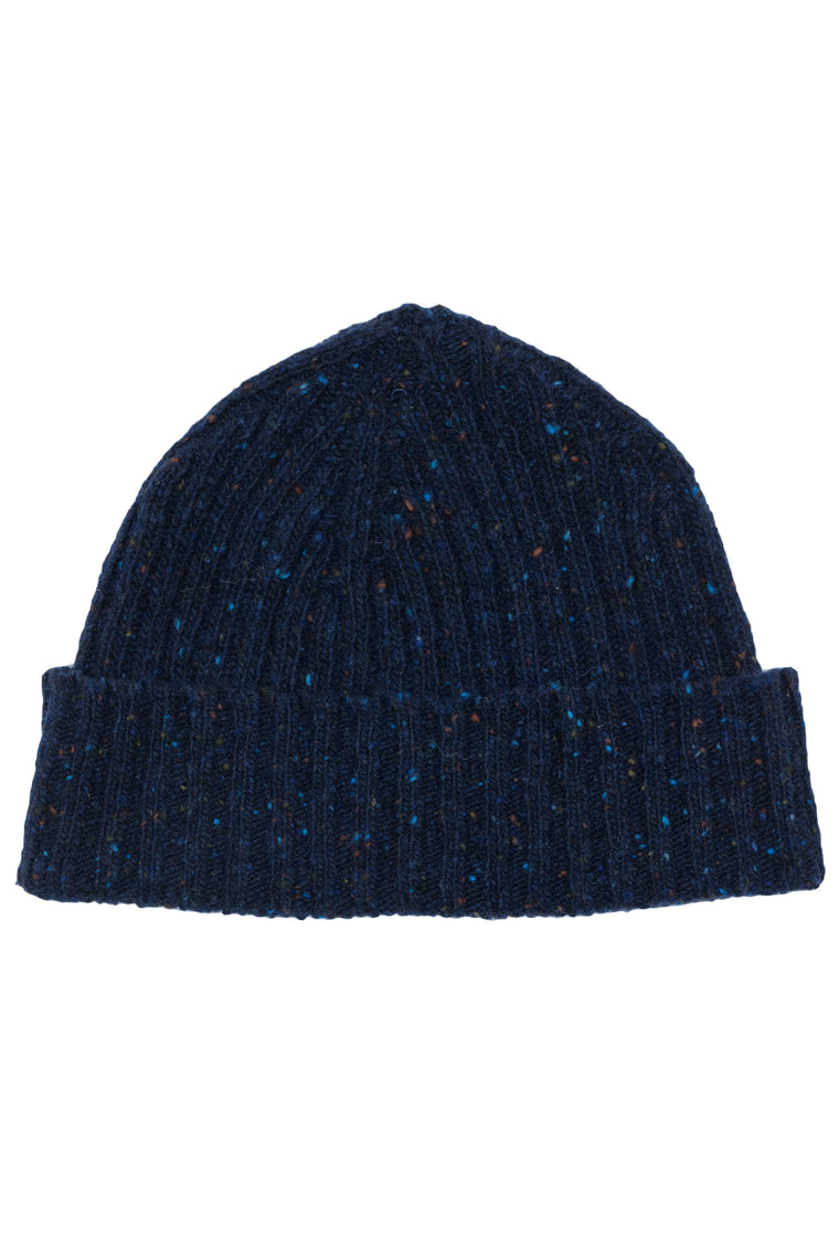 Navy Donegal Beanie
