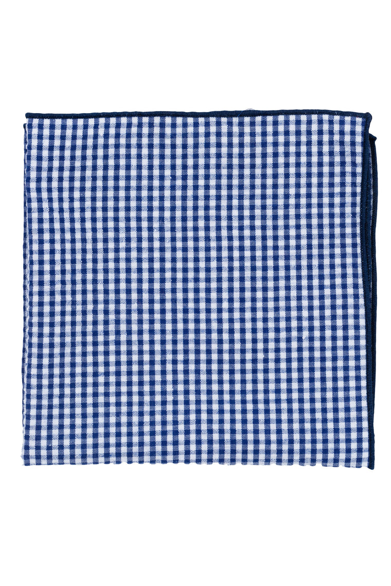 Blue Checked Seersucker