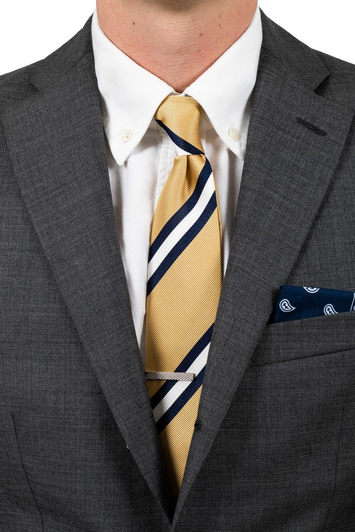Dusted Yellow Striped Tie