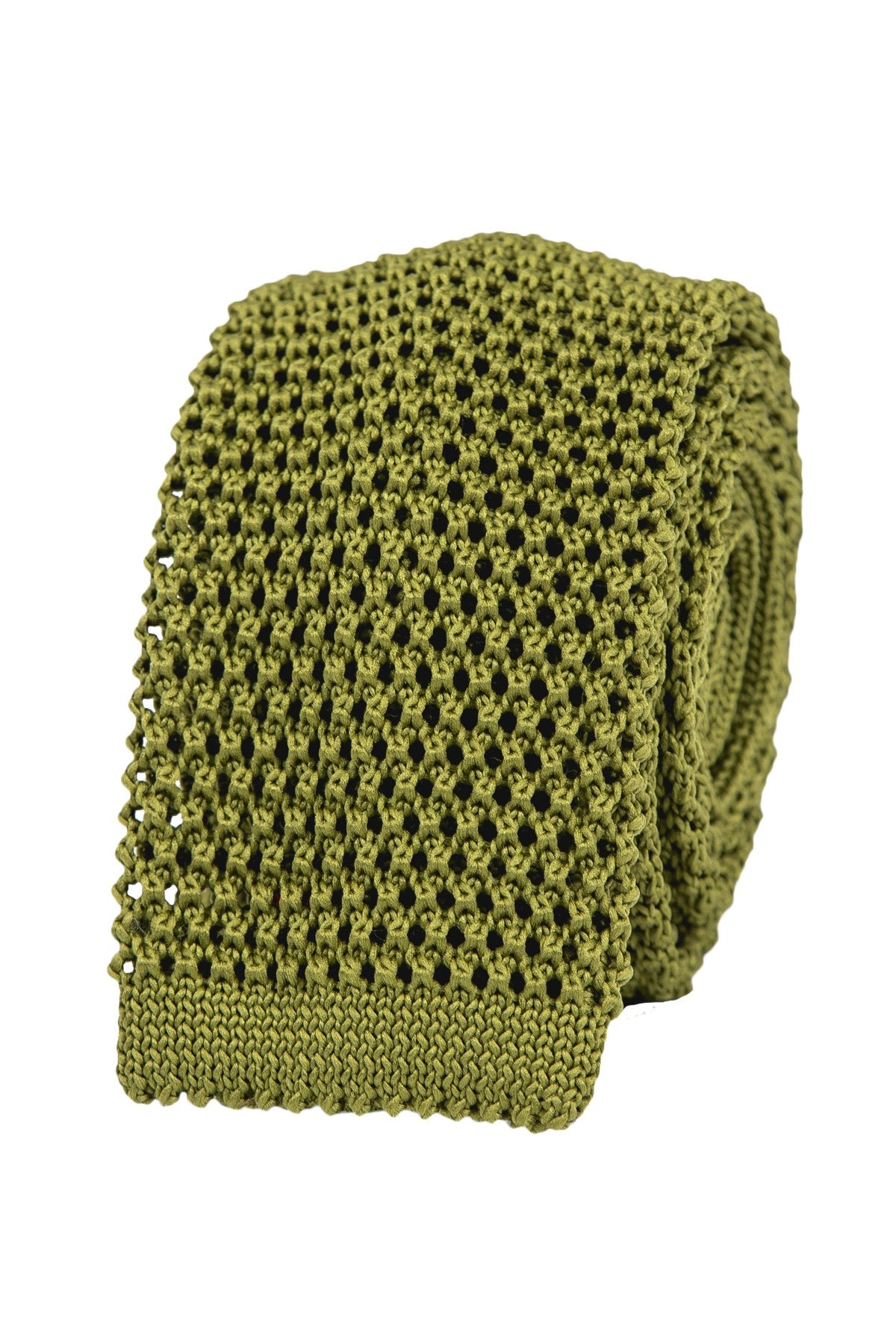 The Solid Olive-Green Knit