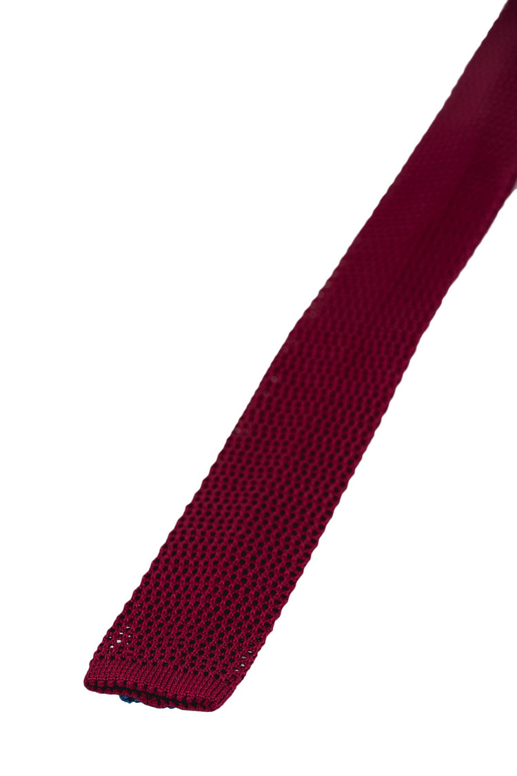 The Solid Burgundy Knit