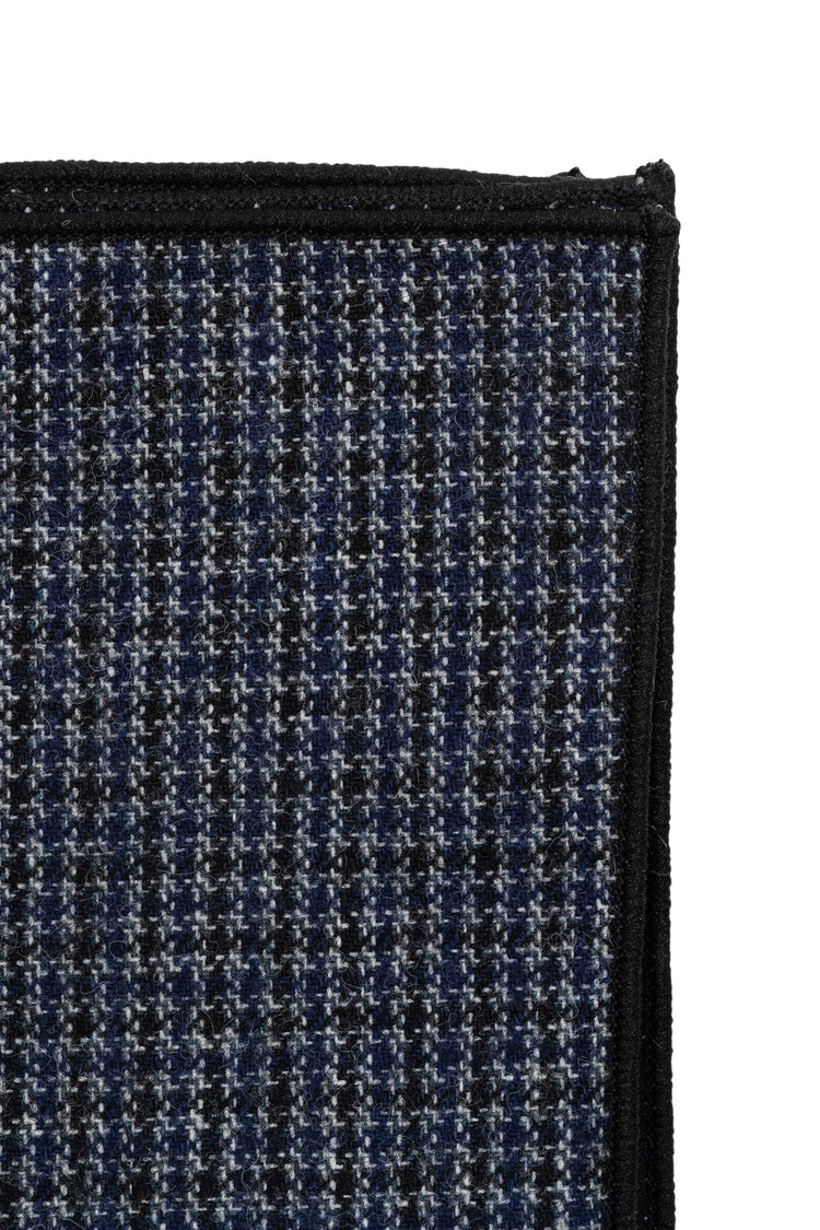Black Checked Wool Pocket