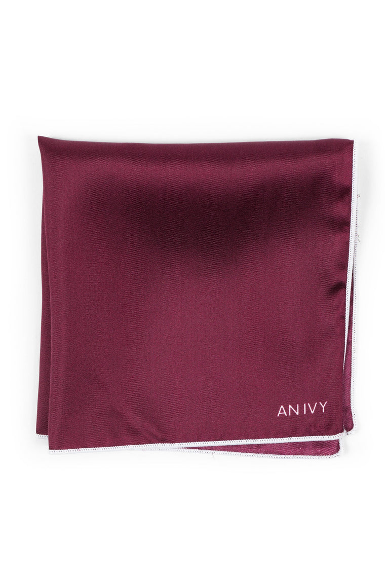 Burgundy Silk Pocket