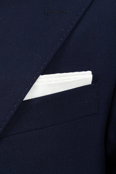 The Tie Bar Denim Chambray Pocket Square With Border 100/% Cotton Pocket Square