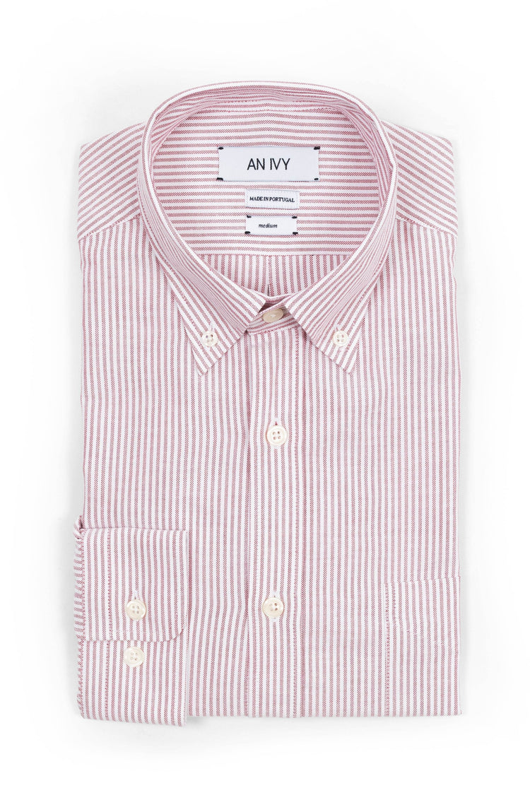 The Red Striped Oxford Shirt