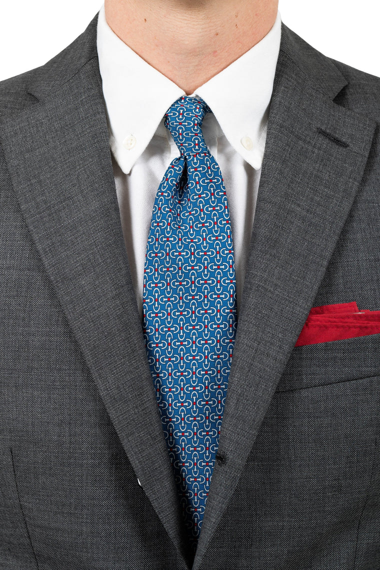 Blue Geometry Silk Tie