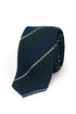 Green Navy White Grenadine Tie