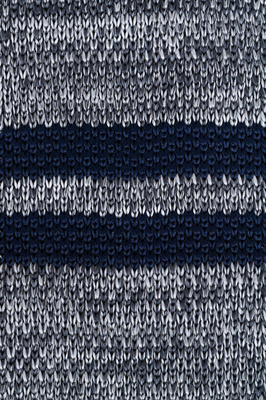 Grey Navy Signature Knit