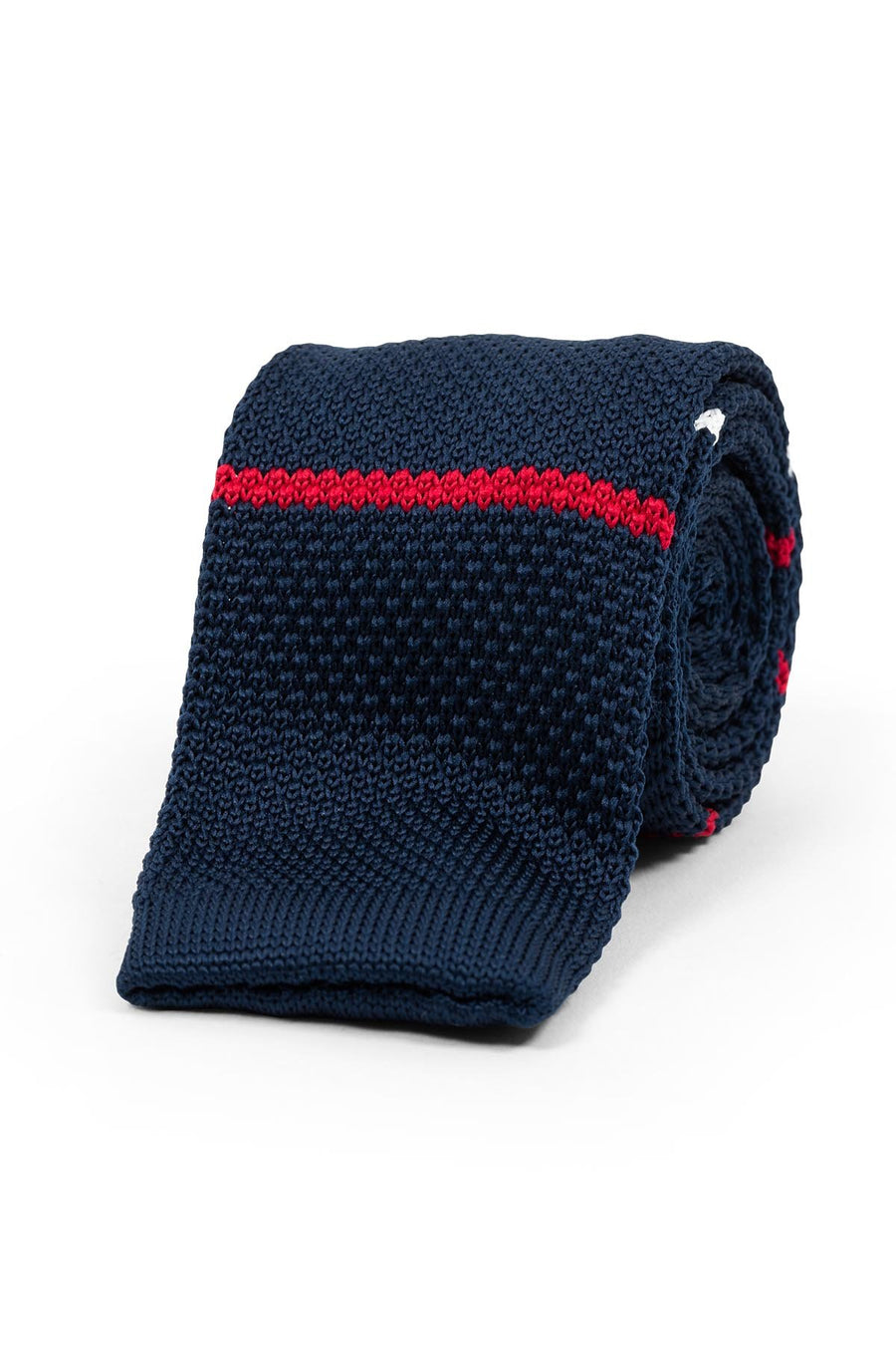 Navy Red White Classic Knit
