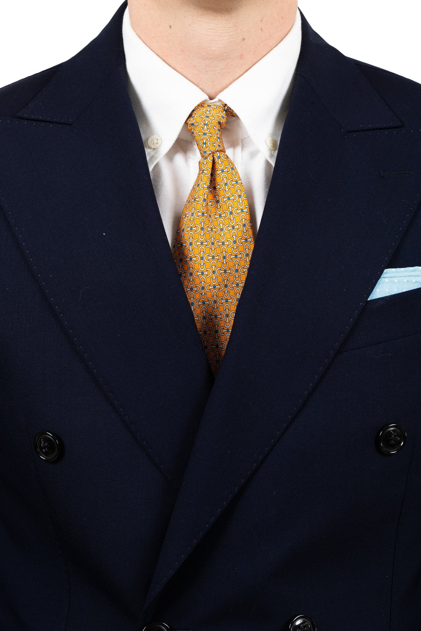 Orange Geometry Silk Tie