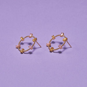 CIRCLE CRYSTAL EARRING