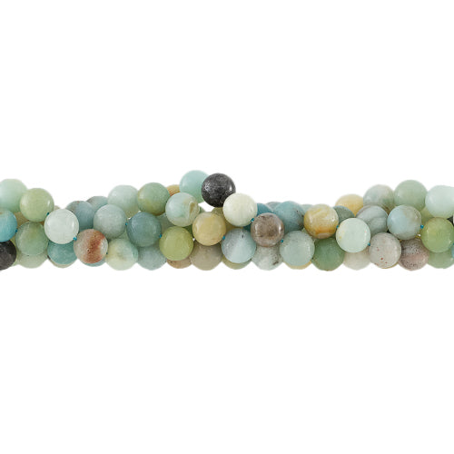 GM-0700 - 6mm Round Amazonite Gemstone Bead Strand,16"