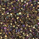 10C-TW-188 - Miyuki 10/0 Twisted Hex Cut Bead Met Purple Gold Iris | 25 Grams