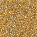 11-2 - 11/0 Silver-Lined Light Gold Miyuki Seed Bead | 25 Grams