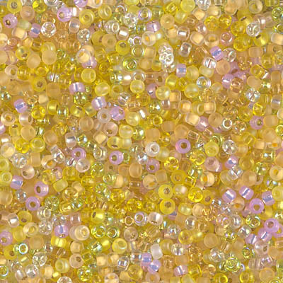 11-MIX-35 - 11/0 Miyuki Seed Bead Mix, Lemon Twist | 25 Grams