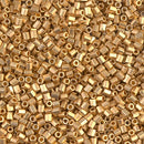 11C-191F - 11/0 Cut Matte 24kt Gold Plated (Like DB 331) Miyuki Seed Bead   |  25 Grams