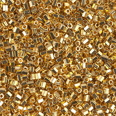 11C-191 - 11/0 Cut 24kt Gold Plated (Like DB 31) Miyuki Seed Bead | 25 Grams